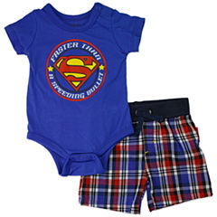 2-pc. Superman Short Set Baby Boys