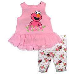 2-pc. Sesame Street Legging Set-Baby Girls