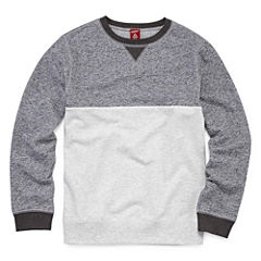 Arizona Long Sleeve French Terry Sweatshirt Boys 8-20 and Husky