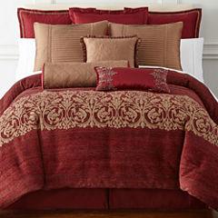 Royal Velvet® Malaga 4-pc. Jacquard Comforter Set