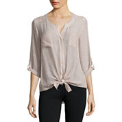 Alyx® Long-Sleeve Roll-Cuff Gauze Top