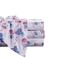 By the Seashore Boho Flamingo Microfiber Sheet Set