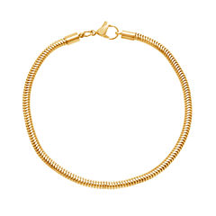 Yellow IP Stainless Steel Snake Chain Bracelet