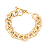 Yellow IP Stainless Steel Bold Link Bracelet