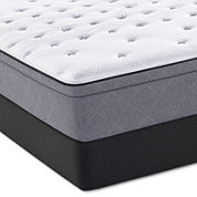 Sealy® Posturepedic® Plus Spoleti Park Cushion Firm Euro-Top - Mattress + Box Spring
