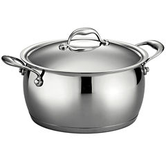 Tramontina Gourmet Domus 6-qt. 18/10 Stainless Steel Induction-Ready Sauce Pot with Lid