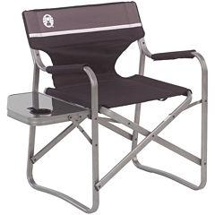 Coleman® Aluminum Deck Chair + Folding Table