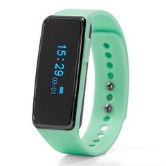 NuBand Activ+ Activity And Sleep Tracking Womens Green Strap Watch-Nu-G0002-Mg