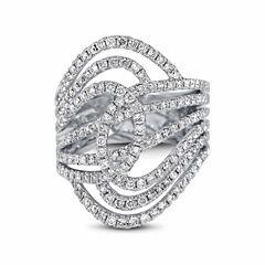 Womens 1 1/4 CT. T.W. Genuine White Diamond 14K Gold Engagement Ring