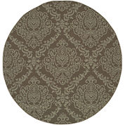Covington Home Damask Indoor/Outdoor Round Rug