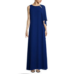 Scarlett One-Shoulder Chiffon Long Dress - Tall