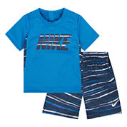 Nike Boys Short Sleeve Short Set