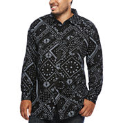 Zoo York® Long-Sleeve Patchwork Woven Shirt - Big & Tall