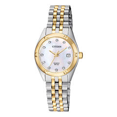 Citizen Quartz Womens Two Tone Bracelet Watch-Eu6054-58d