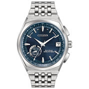 Citizen Mens Silver Tone Strap Watch-Cc3020-57l