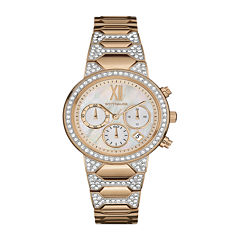 Wittnauer® Womens Crystal-Accent Rose-Tone Stainless Steel Bracelet Watch WN4068