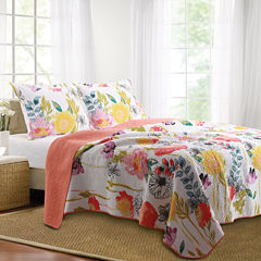 Greenland Home Fashions Watercolor Dream Floral Quilt Set & Accessories
