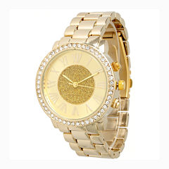 Olivia Pratt Womens Gold Tone Bracelet Watch-13839