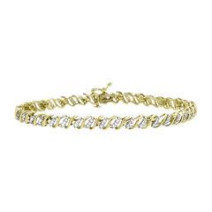 1 CT. T.W. Diamond 10K Yellow Gold Bracelet
