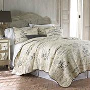 Levtex Lise Grey Quilt Set