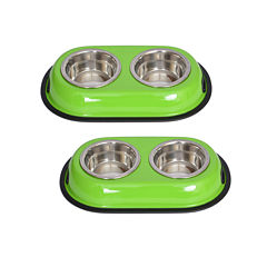 Iconic Pet 2-Cup Color Double-Bowl Diner