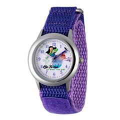Disney Princess Mulan Girls Purple Strap Watch-Wds000205