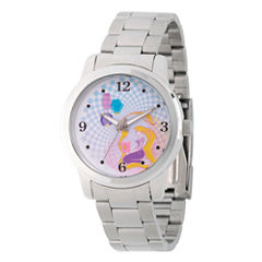 Disney Princess Belle Beauty and the Beast Womens Silver Tone Bracelet Watch-Wds000242