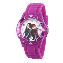 Disney Descendants Womens Purple Strap Watch-Wds000245
