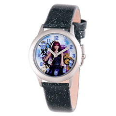 Disney Descendants Girls Black Strap Watch-Wds000248
