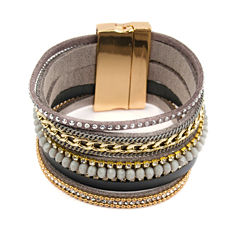 Decree Womens Clear Wrap Bracelet