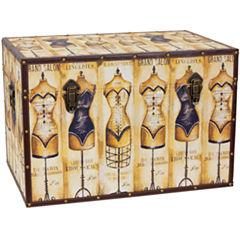 Oriental Furniture Mannequin Storage Storage Trunk