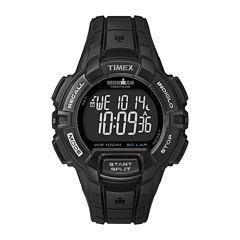 Timex® Ironman Rugged Mens 30-Lap Black Dial Watch