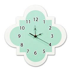 Trend Lab® Mint Quatrefoil Wall Clock