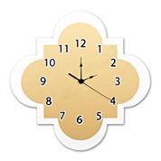 Trend Lab® Gold Quatrefoil Wall Clock