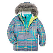 Zeroxposur® Olivia Systems Plaid Jacket - Girls