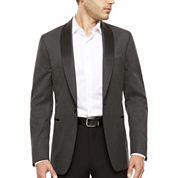 J. Ferrar® Black Grey Houndstooth Slim Sport Coat
