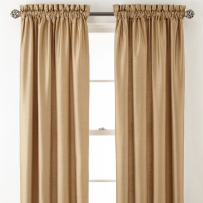 Royal Velvet® Plaza Thermal Interlined Rod Pocket Curtain Panel