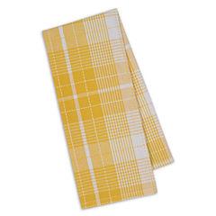 Design Imports Daffodil Plaid Set of 4 Kitchen Towels