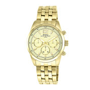 Armitron® All Sport® Mens Gold-Tone Stainless Steel Chronograph Watch