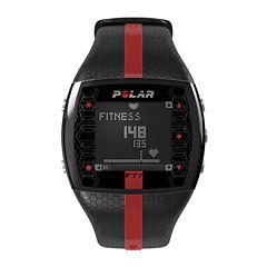 Polar® FT7 Mens Heart-Rate Monitor Chronograph Black Strap Watch