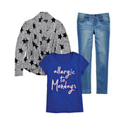 Total Girl® Graphic Tee, Cardigan or Jeggings - Girls 7-16