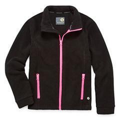 Xersion Girls Lightweight Fleece Jacket-Big Kid