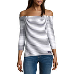 Us Polo Assn. 3/4 Sleeve T-Shirt-Juniors