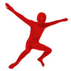 Red Skinsuit Dress Up Costume-Big Kid Unisex