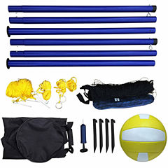 Hathaway Portable Volleyball Net- Posts- Ball & Pump Set