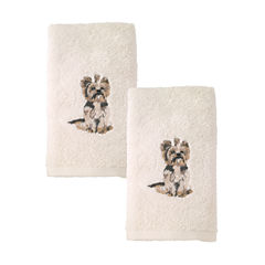 Avanti 2pk Dog York Terrier 2-pc. Embroidered Hand Towel