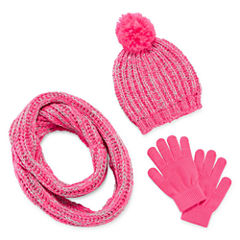 Total Girl® 3-pc. Beanie, Scarf and Magic Glove Set - Girls 7-16