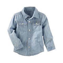 Oshkosh Long Sleeve Button-Front Shirt Boys
