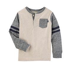 Oshkosh Long Sleeve Henley Shirt - Toddler Boys