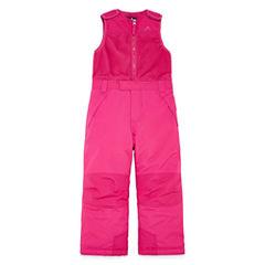 Vertical 9 Heavyweight Snow Bibs-Toddler Girls